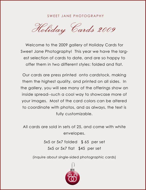 Holiday card intro